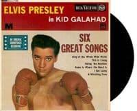 ELVIS PRESLEY Kid Galahad EP Vinyl Record 7 Inch RCA 1962